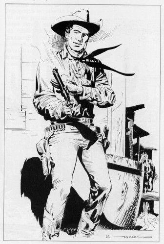 O Xerife Tex na arte de Virgilio Muzzi