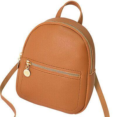 Frauen Rucksack täglich Candy Farbe Reißverschluss Mini Single Shoulder PU Leder. USD 7.8 auf Lager