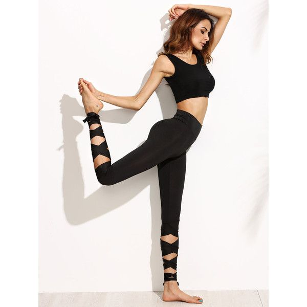 Wide Waistband Tie Up Leggings ($17) ❤ liked on Polyvore featuring pants, leggings, white leggings, cotton leggings, white pants, white legging pants and legging pants