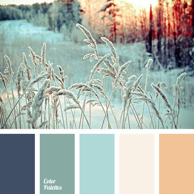 Tender and affecting color gamma like covered with the first snow trees and plants. Light shades of soft blue, rose-beige, white create more space and the