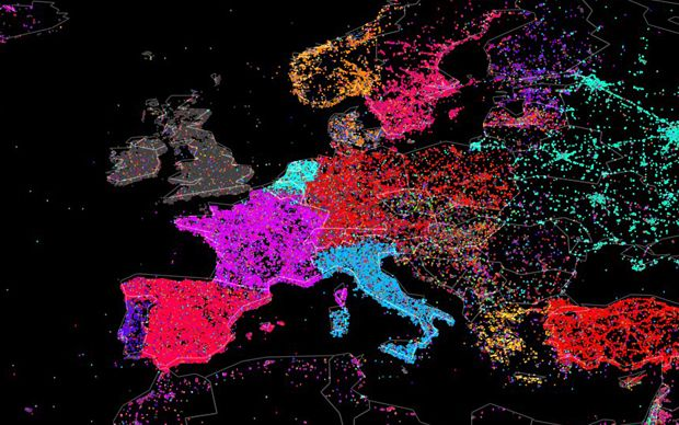 'Month in the life of Twitter' survey shows network's distribution of languages - Telegraph
