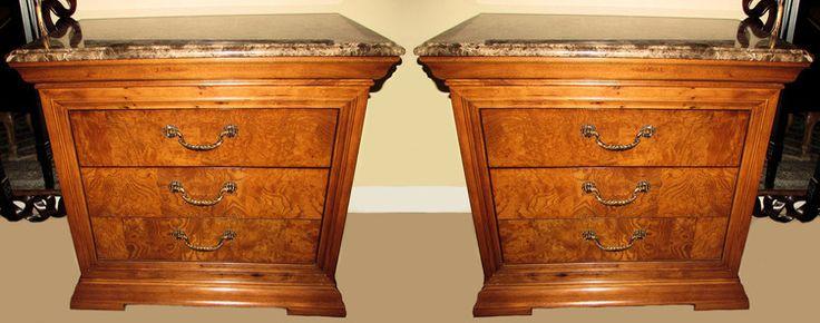 Best Pair Of 2 Thomasville Elysee Marble Top Nightstands Or 400 x 300