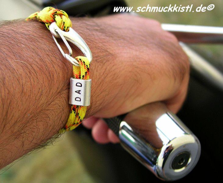 Männerarmband mit Gravur von www.Schmuckkistl.de auf DaWanda