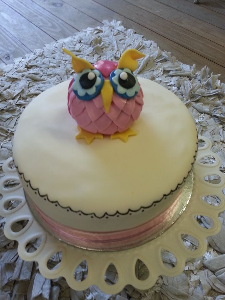 Whoo Whoo's having a baby???  Owl Cake for baby shower