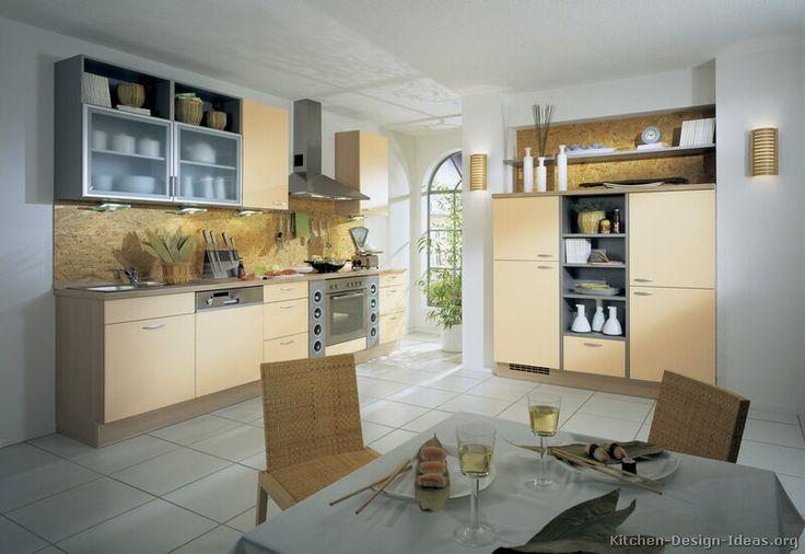 Modern Beige Kitchen Cabinets  #TT215 (Alno.com, Kitchen-Design-Ideas.org)