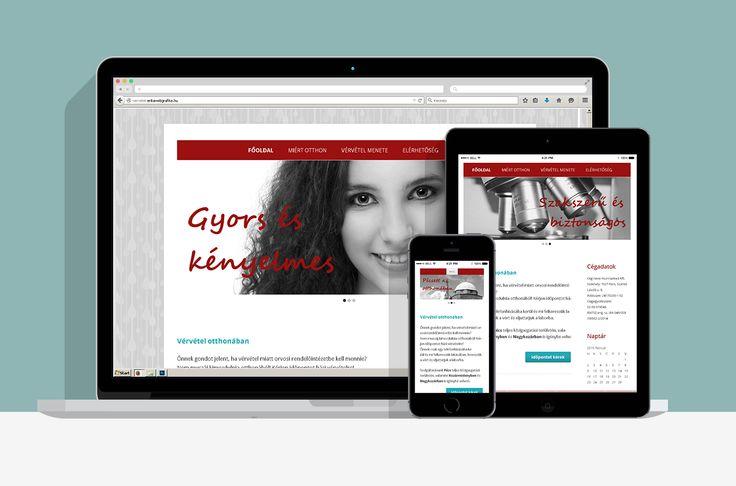 Otthoni Vérvétel honlap: Egy egészségügyi vállalkozás, a Hunniamed Kft. számára készített reszponzív weboldal.