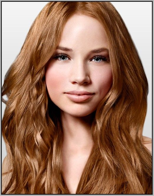 Strawberry blonde rare hair color