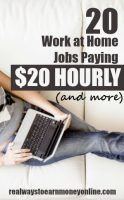 Do you need to make quite a bit more than minimum wage? Here's a list of work at home jobs paying $20 an hour and MORE.