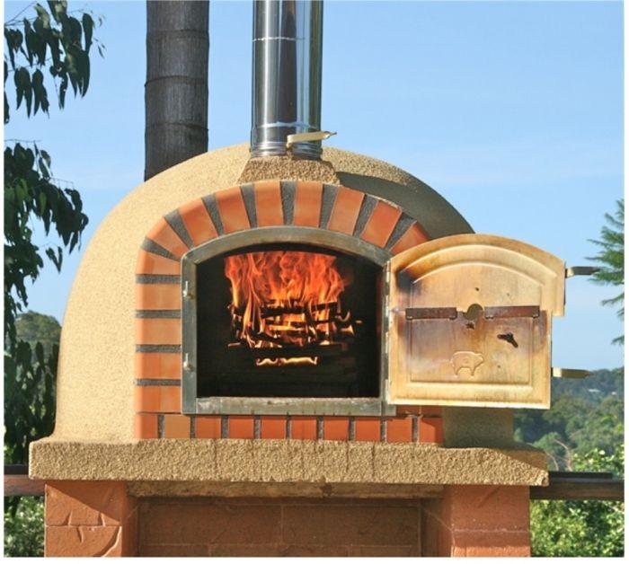 Superb Four A Pizza Exterieur #6: My-Barbecue-Four à Pizza Extérieur - LISBOA 90cm