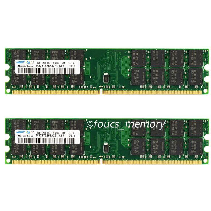 Samsung 8GB 2X 4GB DDR2-800 MHZ PC2-6400 240PIN Desktop memory AMD Motherboard #Samsung