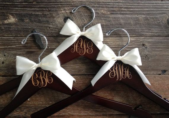 Bridesmaid Hangers Monogram Hanger Monogram by GetHungUp on Etsy