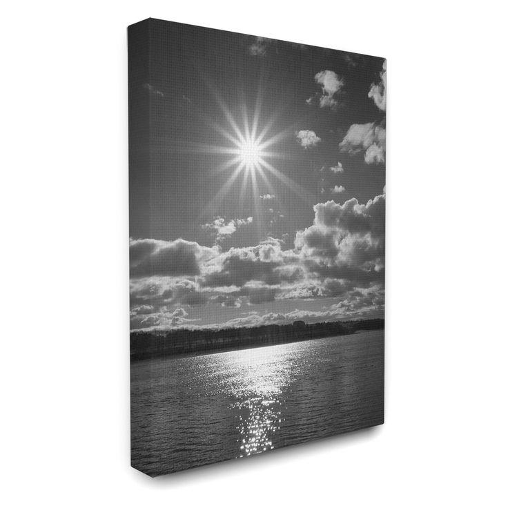 Stupell Decor Sun Burst With Ocean Canvas Wall Art - CW-1248_CN_24X30