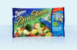 Ziploc Zip'n Steam I have become obsessed with these! Our favorite is broccoli....cook according to package directions then add salt, pepper, butter and garlic powder. Let it sit for a few minutes but turn the bag occasionally to distribute the seasonings. Super good!