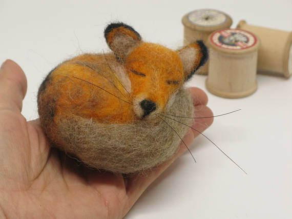 Check out this item in my Etsy shop https://www.etsy.com/uk/listing/556449254/needle-felted-fox-felt-fox-sculpture