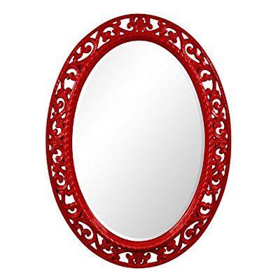 Save 89%- Howard Elliott Collection 2123R Suzanne Mirror, Red