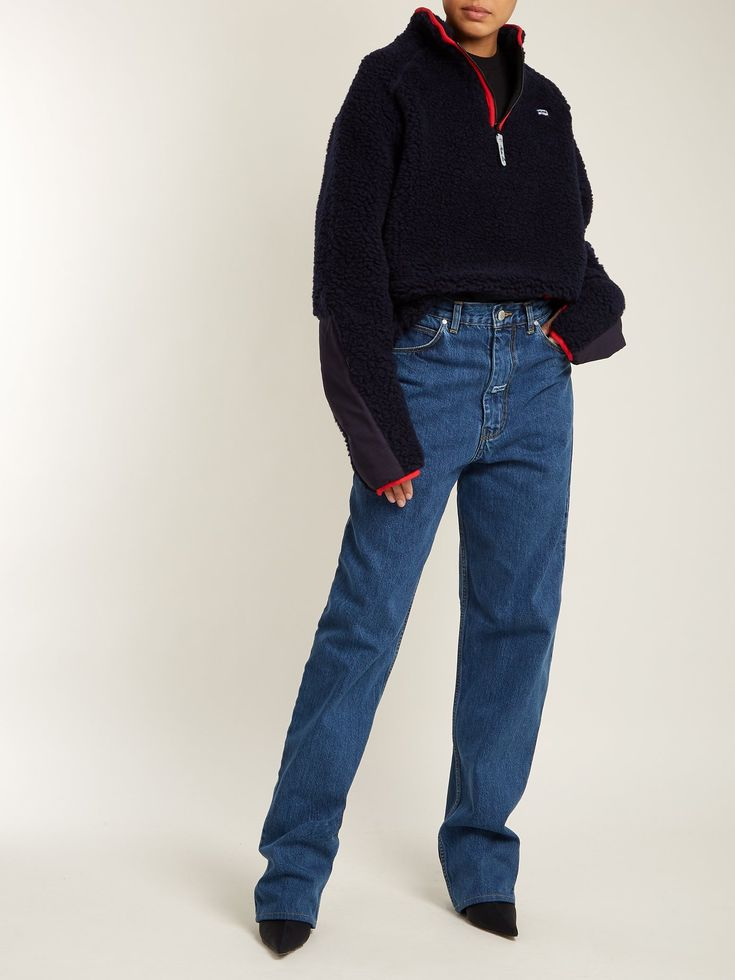 Martine Rose High-rise relaxed-fit straight-leg jeans