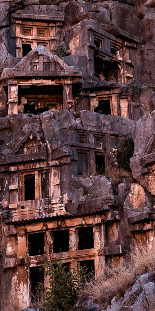 Myra is an ancient town on the southern coast of Turkey, famous for its rock tombs built into the hillside #Tombraider
