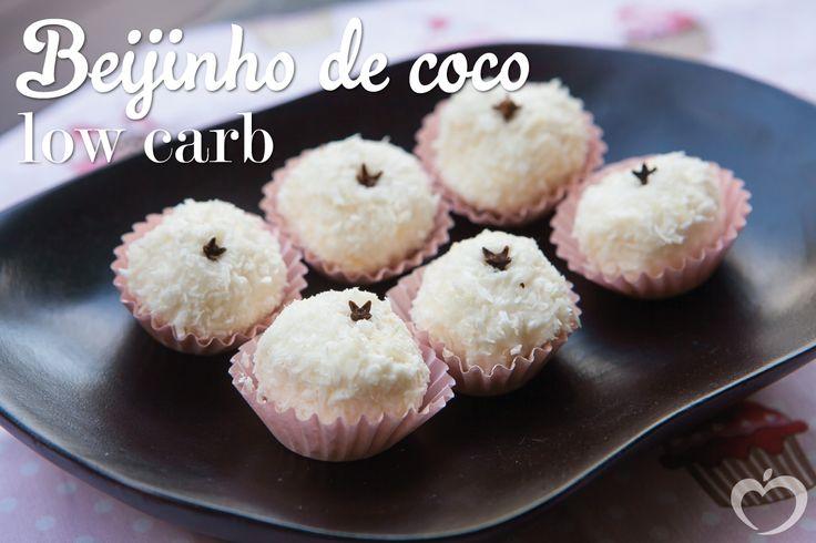 Beijinho de coco lowcarb - Blog da Mimis