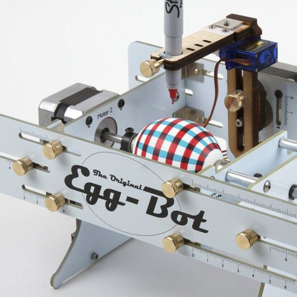 Upgraded *Eggbot Deluxe kit* control from within Inkscape! Draw on spherical objects!
