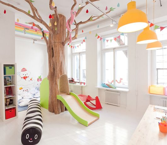Fun and colorful playroom!