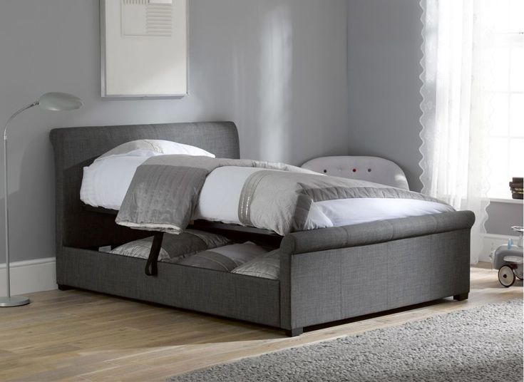 Ottomans Lucia Storage Chest Grey Fabric: Best 25+ Upholstered Bed Frame Ideas On Pinterest