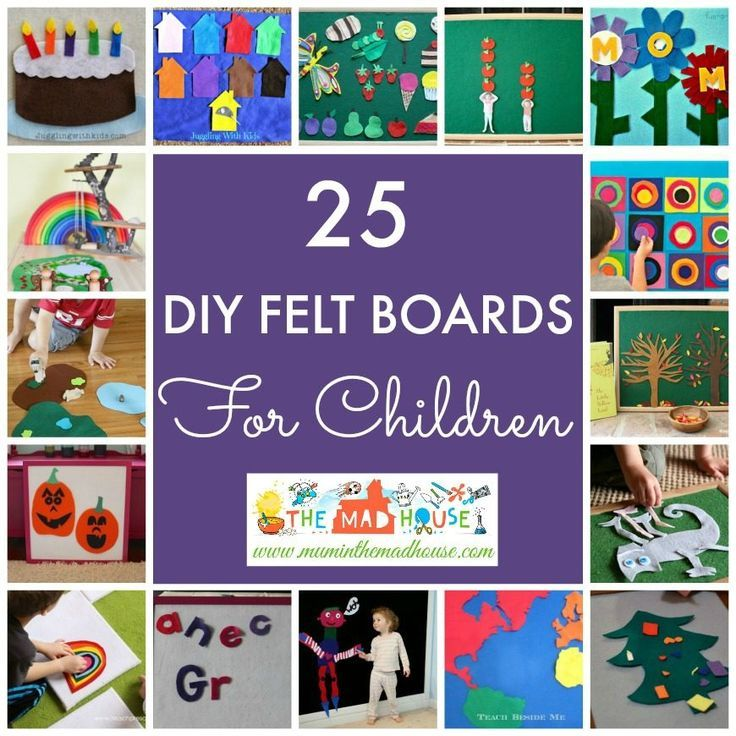 25 DIY Felt Board Ideas for children.  Felt boards are such a great activity for kids and you will find a super selection of make your own here.