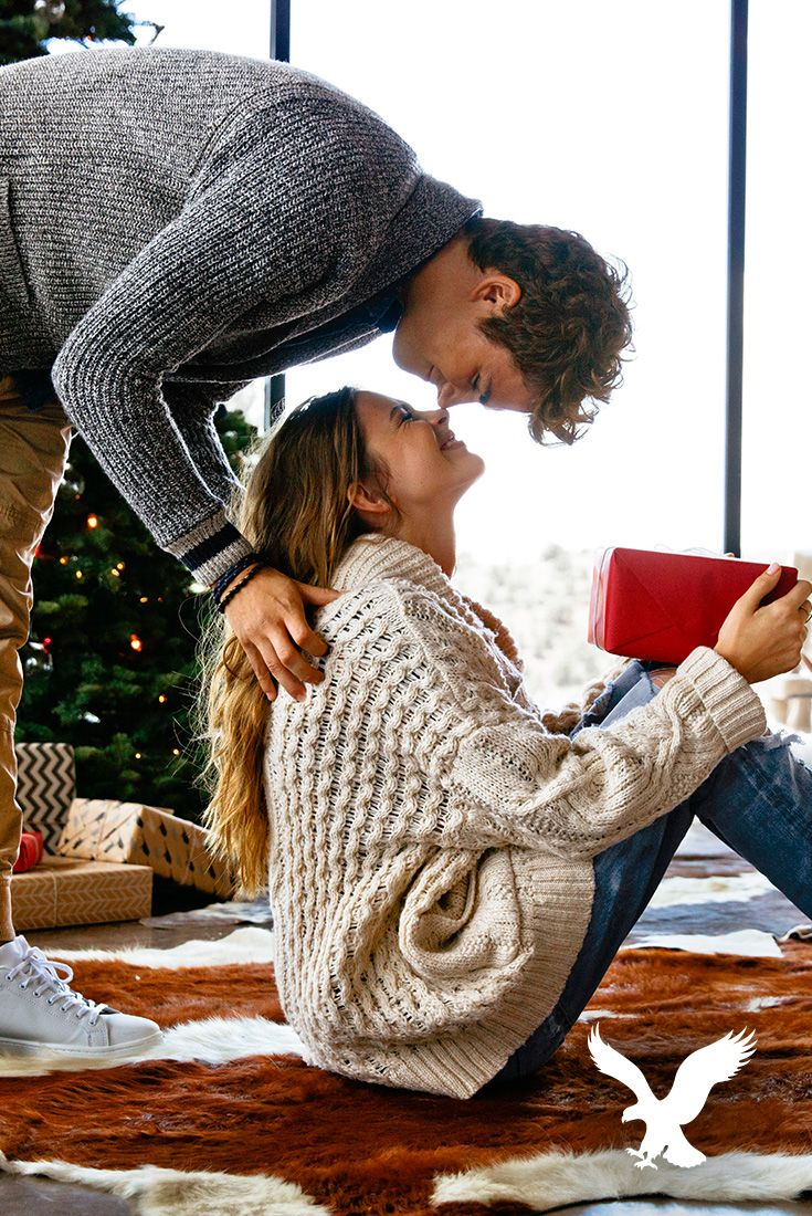 Holiday is under wraps! Gift her what she really wants this year with #AEOSTYLE. Shop gifts like sweaters she can wear while Christmas shopping, dresses that will look amazing at holiday parties or cold weather accessories to keep her warm. Shop now at AE.com