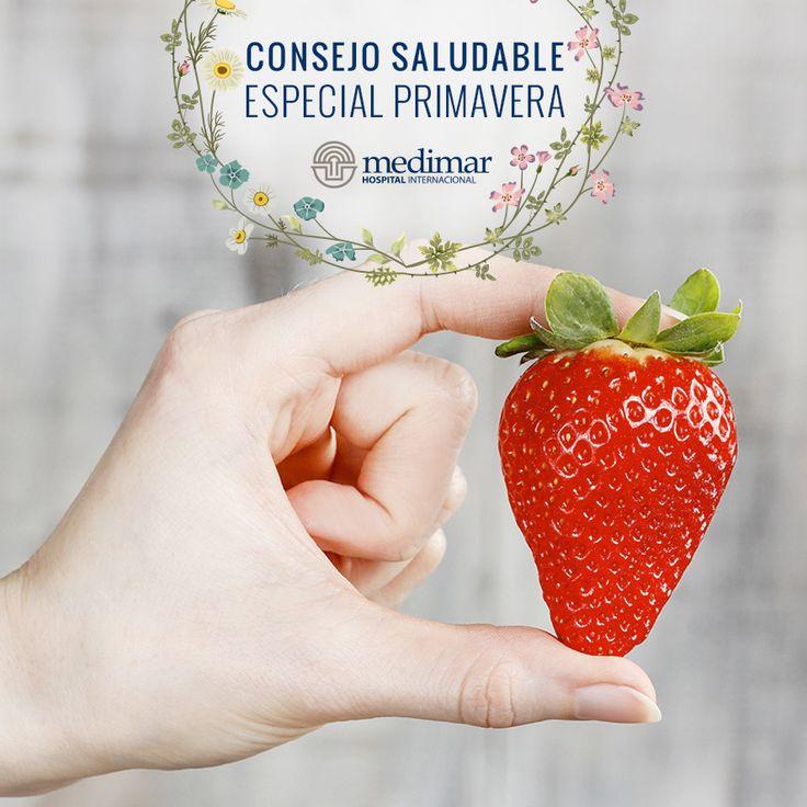 La primavera es la estación del color, y las fresas son una de las frutas que nos acompañan durante toda la primavera y las que contienen más vitamina C