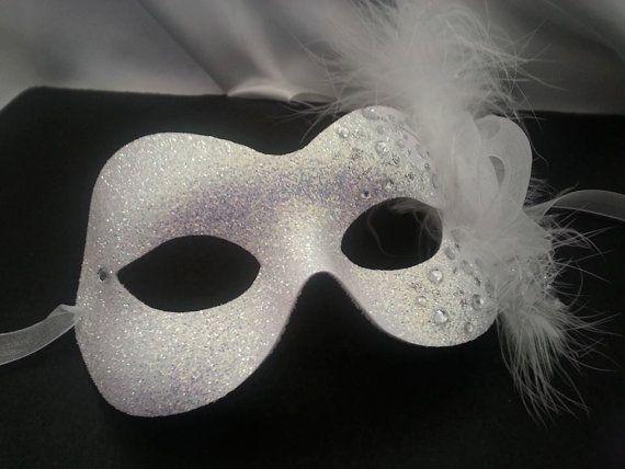 MASK Ice maiden Masquerade Mask, SNOW QUEEN party masks, UK Phantom of the Opera, maskerade, ice maiden, snowflakes glitter ladies white winter maskeli whitemask glittery sparkly beautiful unique