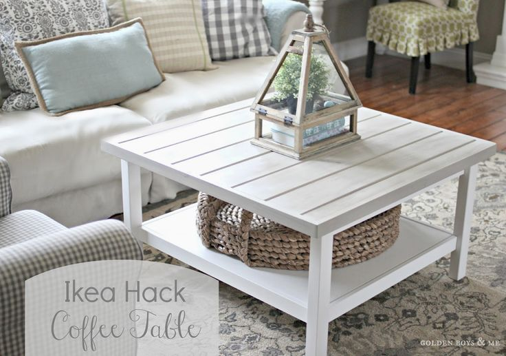 DIY Ikea Hack Hemnes Coffee Table Makeover with Planked Top Tutorial (TIPS ON AGING  WHITEWASHING) - www.goldenboysandme.com