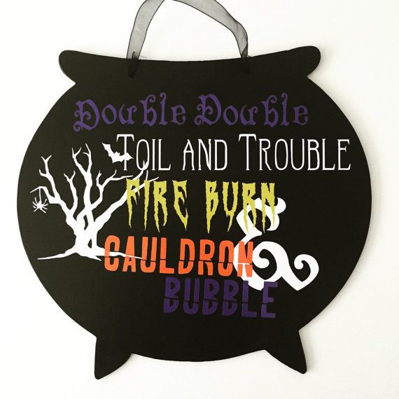Double Double Toil And Trouble Custom by KrystlesCraftCloset