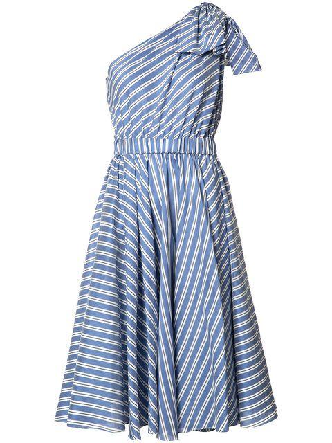 Milly расклешенное платье на одно плечо
