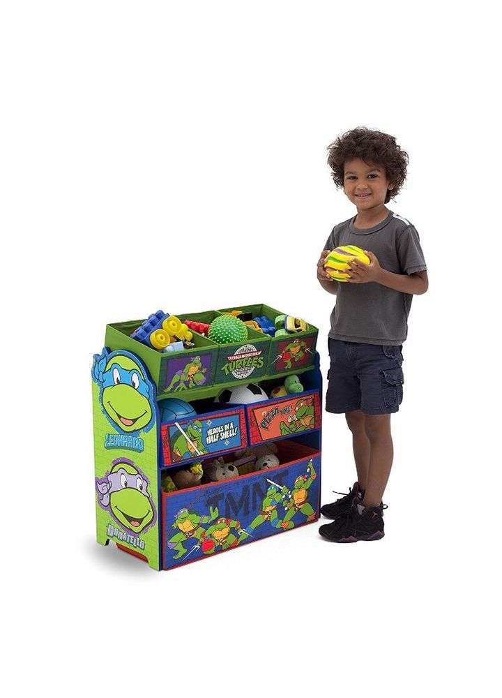 Toy Organizer Storage Bin Toys Shelves Play Room Nickelodeon Ninja Turtles New #DeltaChildren #NinjaTurtles