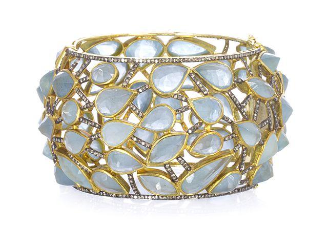 Aquamarine Cuff ...satyajewelry