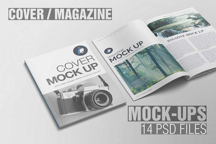 Magazine Mockup 51767 Scene Creators Design Bundles Design Mockup Free Magazine Mockup Psd Magazine Mockup