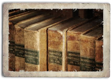 Old antique books for a steampunk library, 5x7 photo print.