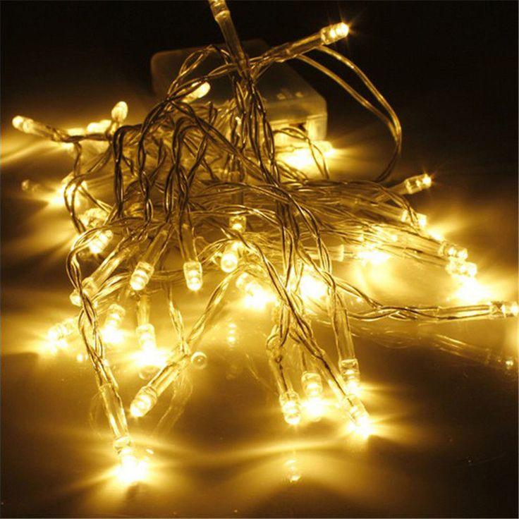 10/20/30/40 AA Con Pilas LLEVÓ Cadena de Luces de Navidad Garland Partido Decoración de La Boda de Navidad Flasher Luces de Hadas