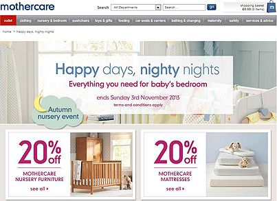 Create your dream bedroom for baby with #Mothercare on their #Autumn Nursery Event. 20% discount on everything you need for baby's bedroom. Ends 3/11. #sale