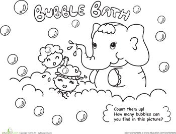 bath time coloring pages - photo#23