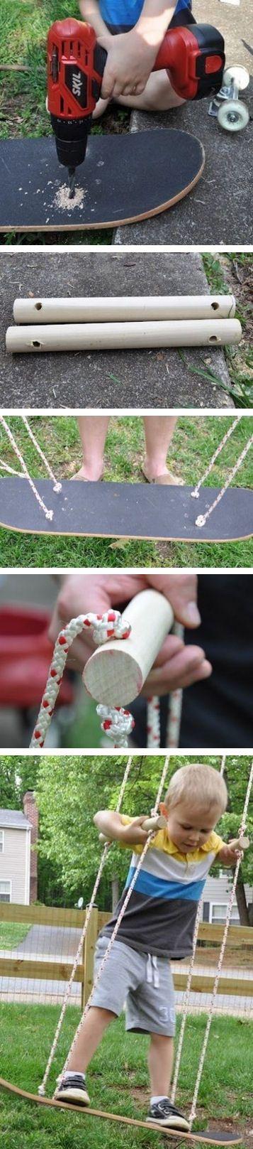 #DIY Kids Skateboard Swing