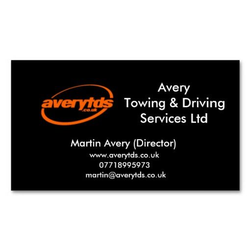 196 best avery business cards images on pinterest avery business averytowing driving services ltd business card avery business cards colourmoves Images