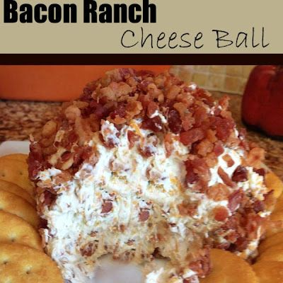 This bacon ranch cheeseball is super yummy and always a hit every time I make it! You can even make this as a snack, don't ...