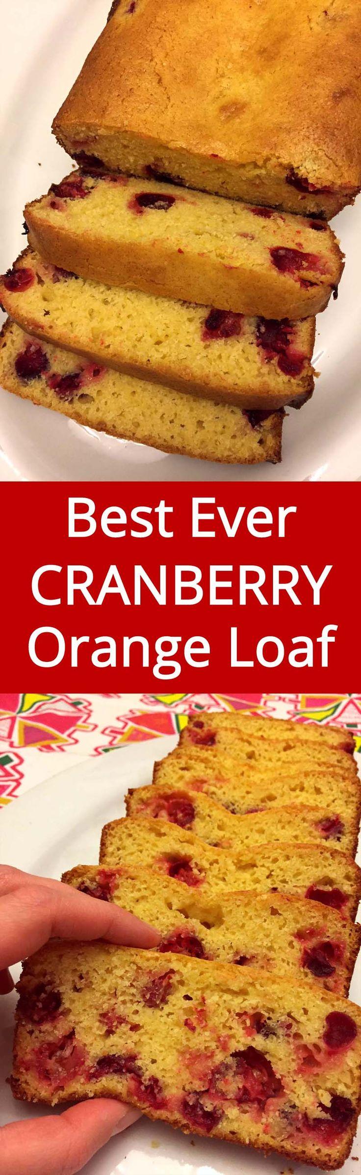 Cranberry Orange Bread - perfect for Christmas! LOVE, LOVE, LOVE this! | MelanieCooks.com