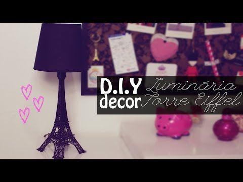 Burguesinhas - DIY Decor: Luminária Torre Eiffel (faça você mesma fácil) - Burguesinhas