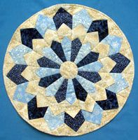 Dresden Plate (colors of Blue & Gold) National Grange Quilted Items...Due to National Lecturer Sept 30 2016.  See full category & rules here: http://www.nationalgrange.org/wpcontent/uploads/2016/03/2016QUILTED_ITEM_CONTEST.pdf