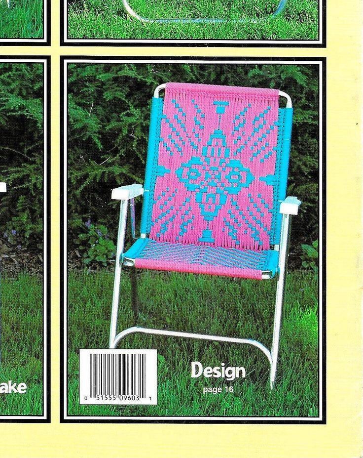 Starflake Macrame Chair 1980s Macrame Patio Lawn Chairs