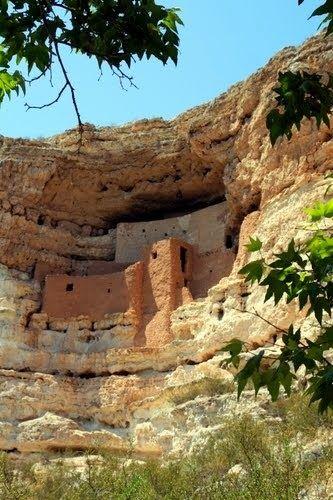 Montezuma Castle National Monument, located near Camp Verde, Arizona, in the Southwestern