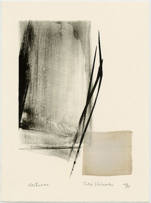 Toko Shinoda, Nocturne (1990), lithograph, Japan - normally not into abstract, but this makes me feel things.