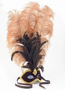 Feathered Party Mask - Plumed Venetian Mask $179