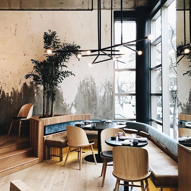 Livia Matcha In Downtown Montreal Gloranger Th3rd Wave All About Coffee Quebec Canada Coffee Shop Design Brick House Colors Coffee Shop Aesthetic